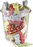1000g Aseli Bunter-Mix | fruchtiger Schaumzuckermix | viele verschiedene Formen und Aromen | wiederverschließbarer 1kg Eimer | Marshmallow Tiere | Figuren handgefertigt | glutenfrei | laktosefrei