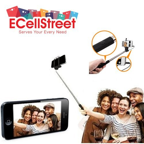 ECellStreet Selfie Stick Wireless Monopad With Aux Cable For Micromax Canvas Engage A091  available at amazon for Rs.195