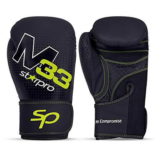 Starpro Boxhandschuhe Muay Thai Training Boxsack -Kickboxen, Sparring, Sandsack, Leder Punchinghandschuhe Mitts Boxing Gloves  8oz 10oz 12oz 14oz 16oz  Männer und Frauen  