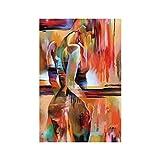 Demino Curvo Immagini Donne Figura Parete di Tela Senza Cornice Colorate pitture a Olio astratte Poster Home Decorazione della Parete di Olio di Disegno 40 * 60cm