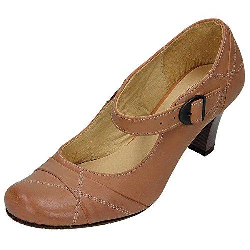 Miccos shoes cuir, escarpins femme semelles de propreté en cuir. 50 mm, paragraphe, tR-sohle3594 rUDY Marron - Neutre