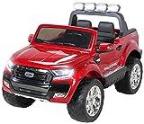 Actionbikes Motors Kinder Elektroauto Ford Ranger - Allrad 4x4 - Touchscreen - 2 Sitzer - 4 x 45 Watt Motor- 2,4 Ghz Rc Fernbedienung - Elektro Auto für Kinder ab 3 Jahre (Weinrot lackiert)