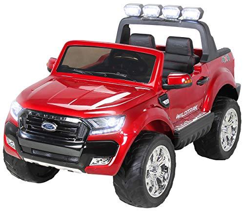 Actionbikes Motors Kinder Elektroauto Ford Ranger Wildtrak - Allrad 4x4 - Touchscreen - 2 Sitzer - 4 x 45 Watt Motor - Fernbedienung - Elektro Auto für Kinder ab 3 Jahre (Allrad Weinrot lackiert)
