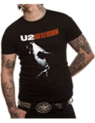 "T-Shirt Homme Noir U2 ""Rattle And Hum"" (Taille S)"