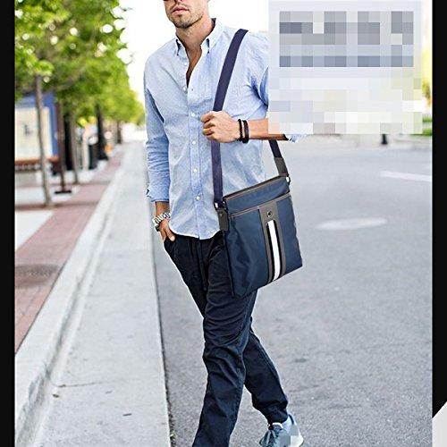 Oxford Wasserdicht Schultertasche Handtaschen Aktentasche Arbeit Messenger Bag Bücher Halten IPad Herrentaschen Blue