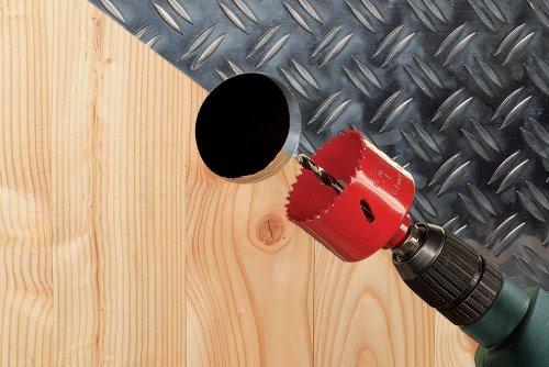 Wolfcraft 5493000 1 Lochsge BiM  100 mm inklusiv Schaft und Bohrer -