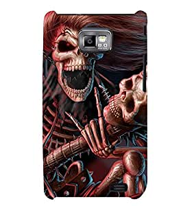 Printvisa Skeleton Playing A Scary Guitar Back Case Cover for Samsung Galaxy S2::Samsung Galaxy S2 i9100
