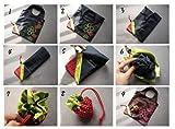 Faltbare Einkaufstaschen SKL ECO Taschen wiederverwendbare Erdbeere faltbar Einkaufstaschen Tote-10er-Pack - 2