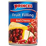 Princes Relleno De Frutos De Color Rojo Cereza (410g) (Paquete de 6)