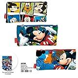 Montichelvo Montichelvo Pencil Pouch Flat Disney (Blister 6 Pcs) Trousses, 22 cm, Multicolore (Multicolour)