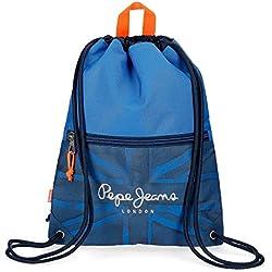 Pepe Jeans Fabio Mochila Tipo Casual, 42 cm, 0.67 litros, Azul