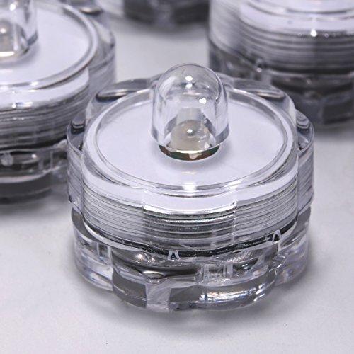 Juego 12 Velas LED Sin Llama Luces Té Cambia Color Resistente Agua Sumergibles Bajo Agua para Decoración por Xcellent Global LD040