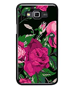 PrintVisa Animated Pink Flowers High Gloss Designer Back Case Cover for Samsung Galaxy Grand Max G720
