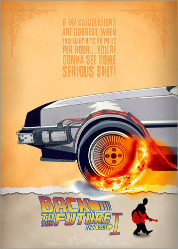 Póster 30 x 40 cm: Back to the Future - Minimal Movie - Part 1 of 3 A