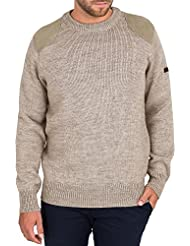 Wool Overs Pull chasseur homme à col rond en pure laine