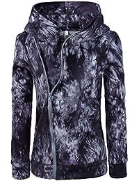 Crazycatz@Women's Tie Dye Long Sleeve Zip Up Sweatshirt Hoodie Jacket Outwear Coat Top