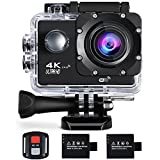Action Kamera 4K 16MP Sports Cam - BUIEJDOG Ultra Full HD WIFI Action Camera 170 °...