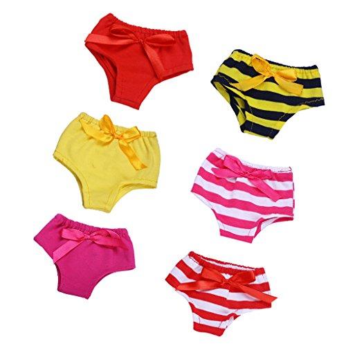 Sharplace Puppenkleidung Für 18 Zoll Puppen - 6pcs Mini Unterwäsche - 7cm x - Puppenkleidung Unterwäsche-set