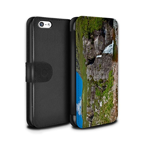 Stuff4 Coque/Etui/Housse Cuir PU Case/Cover pour Apple iPhone 5C / Pack 14pcs Design / Campagne Écossais Collection Cascade/Flux