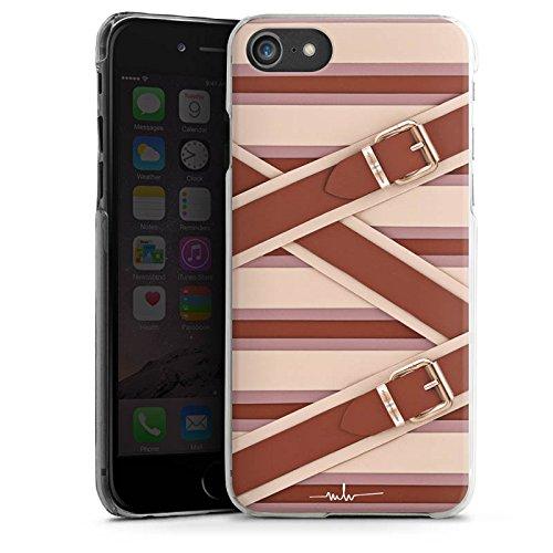 Apple iPhone X Silikon Hülle Case Schutzhülle Mode Leder Laschen Hard Case transparent