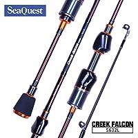 Seaquest 2-Piezas Caña de Pesca Spinning Rod de Fibra de Carbono Portátil Elástica Ligera (180cm)