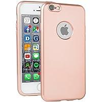 METALLIC Rosa / Rosegold Hülle Apple iPhone 6 / 6s - TPU Silikon Backcover Case Handy Schutzhülle Metall Optik Glossy- MOVOJA Cover Metallic iPhone 6 Rosegold