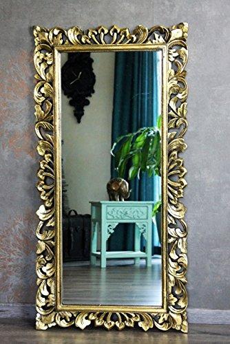Edler Wandspiegel Barockspiegel Rokoko Holz gold antik 120cm x 60cm hoch und quer