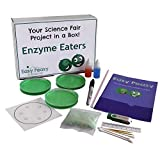 Easy Peasy Science Fair Project Kit - Enzyme Eaters - Top Science Learning Kit -Simple and Easy