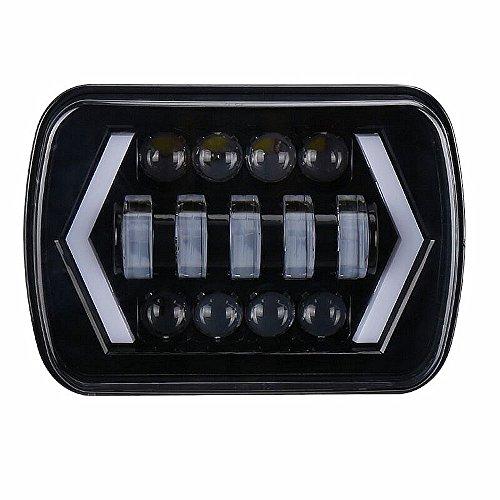 HelLäd Suchscheinwerfer CREE LED 55 W Suchlicht Arbeitsleuchte für Offroad Jagd Boot Garden, Farbelicht von Weiß und Gelb, mit Geschenk