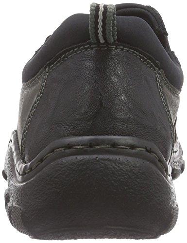 Rieker 07361, Chaussons homme Gris - Grau (schwarz/rauch/schwarz / 03)