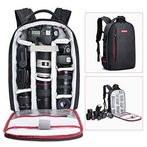 *Beschoi DSLR Kamera-Rucksack, Wasserdichte Kameratasche für Sony Canon Nikon Olympus SLR/DSLR Kamera*