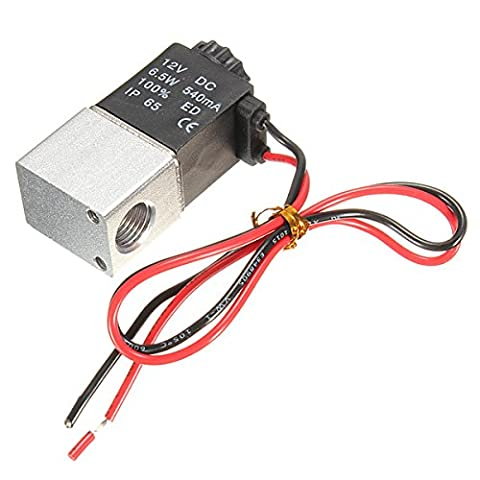 MASUNN 1/4inch DC 12V 2 Way Normally Closed Electric Solenoid Air Valve
