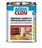 Aqua Clou Treppen- und Parkett Versiegelungslack 0,75L: Anwendung auf neuen Holzböden und im Rahmen der Renovierung – seidenglänzend, abriebfest, schnell trocknend für Dielen, Holz-Treppenstufen sowie Korkböden