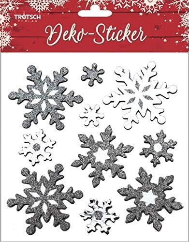 Weihnachtliche Dekosticker mit Glitzer: 4 Motive, 8 fach sortiert -