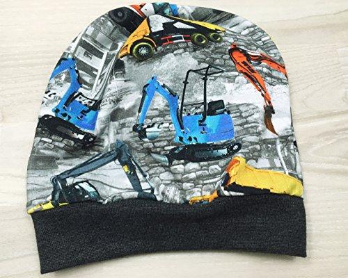 Beanie Mütze Baustelle Digitaldruck, Kopfumfang 48-53 cm