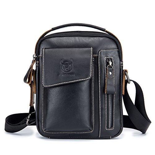 Herren Sling bag,Charminer echtes Leder SchultertascheHochformat Umhängetasche Brusttasche...