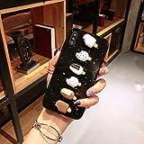 SUNING iPhone Caso Compatibile con iPhone X Ultra Sottile Guscio Morbido Carino Caso Gelato per iPhone X,B