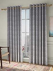 Curtain Label Pulse jacquard set of 2 Eyelet curtains