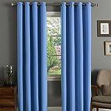 Linens Limited - Thermo-Verdunkelungsvorhänge - Aufhängung mit Ösen - Zartblau - 229 x 229 cm