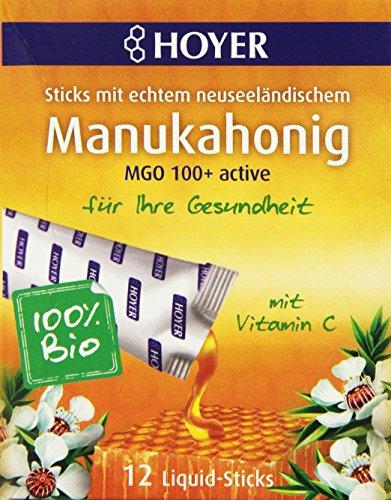 Hoyer Bio Manukahonig Liquid-Sticks MGO 100+active, 12 Sticks, 96 g