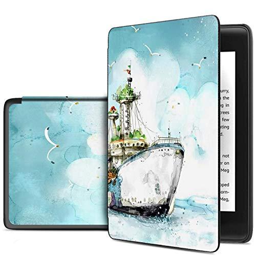 Preisvergleich Produktbild IVSO Hülle für Der Neue Kindle (10th Generation,  2019),  Ultra Schlank Slim Schutzhülle Hochwertiges PU für All-New Kindle (10th Generation,  2019),  CH-Silver White
