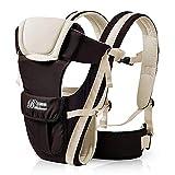 OOFAY Baby Carrier Vorderes Paket Infant Secure Rider Schultergurte Beine 0-24M Ergonomic Baby Carrier Rucksack Atmungsaktiver Verstellbarer Rucksack,Beige