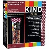 PLUS CLASE, Cranberry Almond + Antioxidantes, gluten Bares gratis 1.4 onzas (paquete de 12)