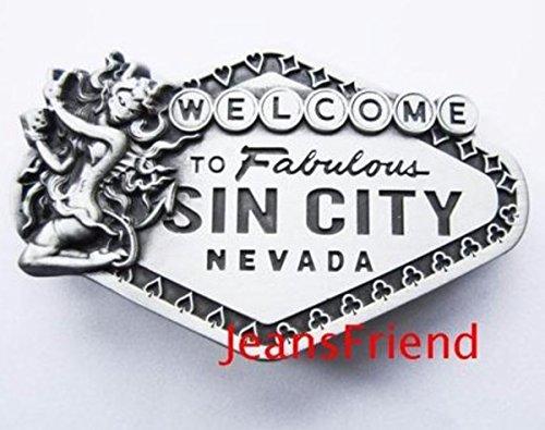 Sin City Kostüm - napolo Western Buckle Belt Cowboy gurtelschnallen New Vegas Las Vegas Willkommen in Vegas Zeichen sin City
