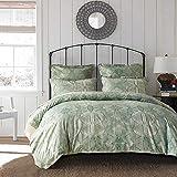 Huichao Luxus-Baumwoll-Gesteppte Stickerei Set von 3 Betten, hausgemachte Beete Tencel Baumwolle 90g Kit (Satz von 3),Green