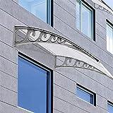 Turefans Überdachung Haustür Vordach Haustürvordach Pultvordach - Diverse Größen (100 x 200)