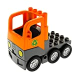1 x Lego Duplo Müll Wagen orange LKW Laster Auto Lastwagen Zugmaschine Müllabfuhr Chassis neu-dunkel grau 1326c01 48125c03pb01