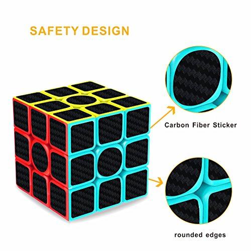 Cubo de Rubik  Gritin 3x3x3 Puzzle Cubo Mágico Inteligencia Mágico Cubo Rompecabezas y Fácil Giro  Súper Duradero para Brain Training Game para Regalo de Adulto para Niños