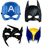 #4: Fancy steps superhero party mask birthday gift set of 4