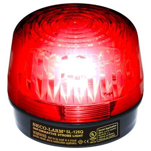 Seco-Larm Enforcer Xenon Strobe Light, 12VDC, Red Lens - Sl1 Strobe Light